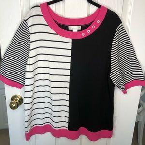 Christopher & Banks Block Stripe Sweater size XL